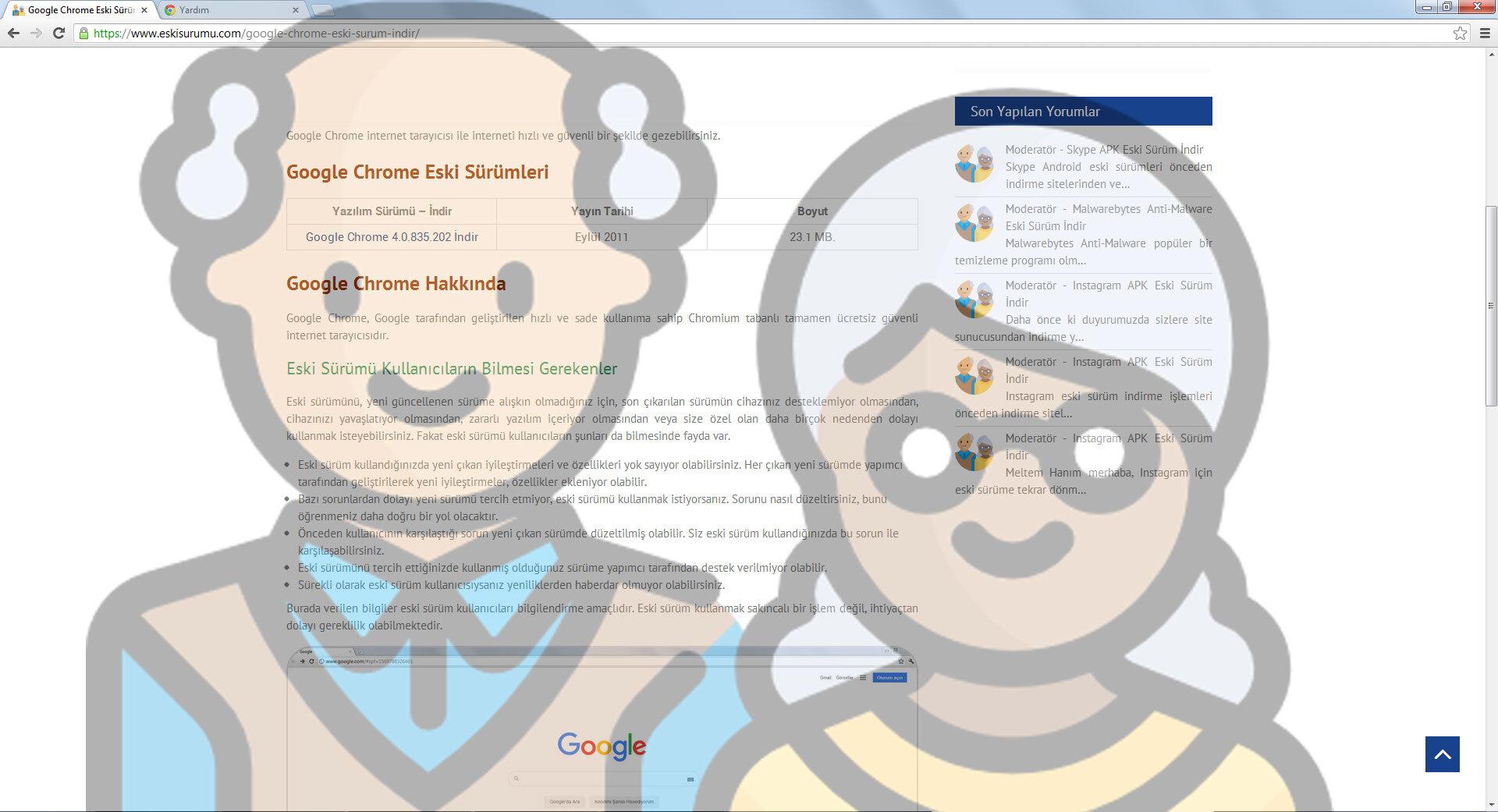 Google Chrome 24.0.1312.57