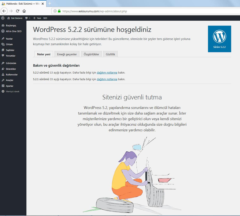 WordPress Eski Sürüm İndir